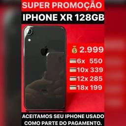 iPhone XR 128gb, aceitamos seu iPhone usado como parte do pagamento.