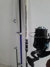 Vara de pesca come molinete