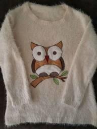 Blusão de lã coruja