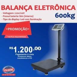 Balança Digital Plataforma 600kg ? Entrega grátis