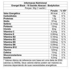 Carbo gel, energel Black, R$4,50