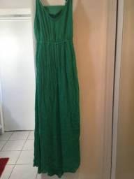Vestido Midi Verde Tam P [NOVO]