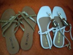 2 sandálias via uno Tam 35