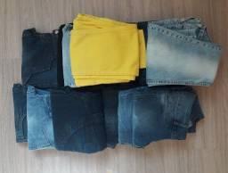 Pacote com 16 calças novas ( cintura baixa) para revenda