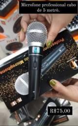 Microfone profesional cabo de 5 metro