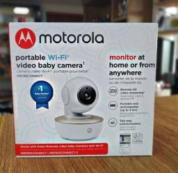 Babá Eletrônica Digital Motorola MBP88Connect HD Wi-Fi Bivolt - Branca / Dourado
