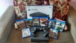 Playstation 4 ps4 Completo + Jogos