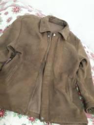 Jaqueta couro camurça menglilai praticamente nova tamanho G