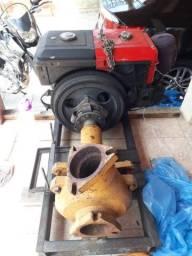 Motor diesel Toyma é draga com todas as mangueiras