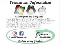 Técnico em Informática - (71) 98831-8142 Profissional com Experiência de 20 anos