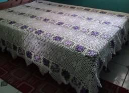 Colcha de casal em crochê, artesanal