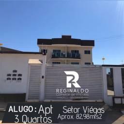 Alugo Apartamento 3 Quartos no Centro de Luzia?nia-GO