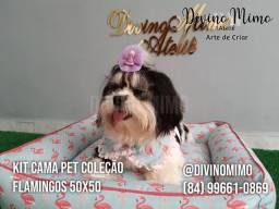 """Kit cama pets """"Divino Mimo Ateliê"""" Coleção SUMMER"""