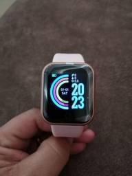 Relógio Smart Y68 Rose