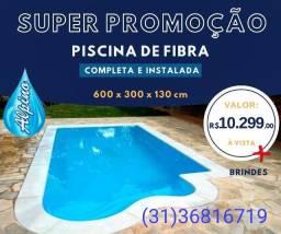 Ju -Super Promoção Piscina de Fibra Alpino *Instalada*_Delluca alpino LS