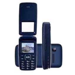 Celular Dl Flip Câmera Digital Dual Yc-335 - Azul