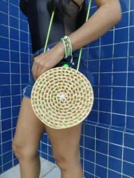 Bolsa Palha Tendência - Verde Neon