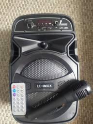 Caixa de som Bluetooth com microfone