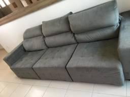 Sofá retrátil e reclinável impecável