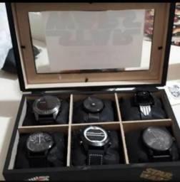 Coleção de 5 relógios da chilli beans + 1 relógio infantil da star wars