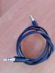 Cabo p2 1m audio,inova reforçado em fibra *