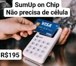 SumUp on Chip Wi-Fi aceito cartão