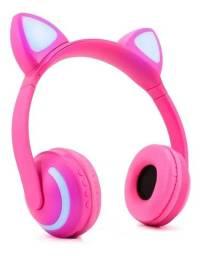 Fone De Ouvido Sem Fio Wireless Headset Exbom Hf-c240bt Gato
