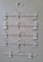 Cabides Acrílico Modelo Saia Calça + Presilhas