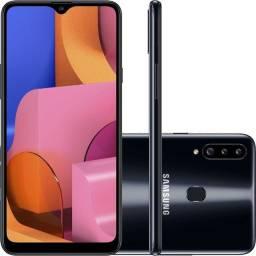 Samsung Galaxy A20 32 GB Preto 3 GB ram Novo Lacrado em até 12x no cartão