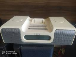 Docking Ihome para Apple com relógio e FM novinho de 450 por 70 reais