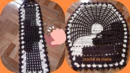 conjunto de banheiro de crochê