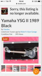 Yamaha YSGII - Troco por Bike