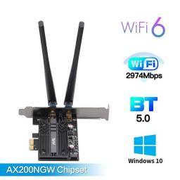 Placa de Rede Wireless PCI-e Fenvi FV-AX3000 Wi-Fi 6 e Bluetooth 5.0