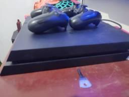PS4 com 2 controles e nota fiscal