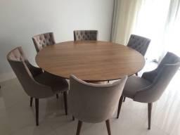 Mesa redonda com 6 cadeiras