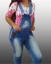 Jardineira Jeans (semi-nova)