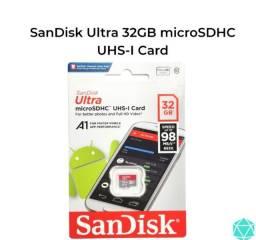 Cartão de memória Micro Sdhc 32GB Ultra - Sandisk (original lacrado)