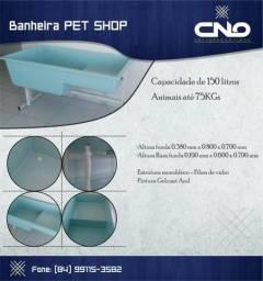 Banheira para pet shop