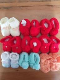 Sapatinho de tricô para bebê