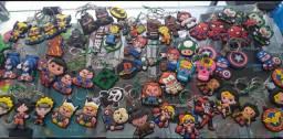 Chaveiros diversos geek personagens