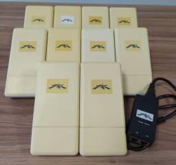 Kit Com 10 Antenas Nanostation5 Loco 5ghz 13dbi Com Fonte