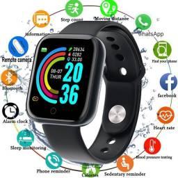 Smartwatch/Pressão Arterial/Oxigênio do sangue/Frequencia Cardíaca/Mede passos,calorias,Km