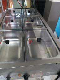 Buffet self service duplo (quente e frio), semi-novo. Celso: *