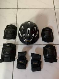 Kit proteção infantil com capacete
