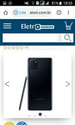 Vendo celular samsung note 10 lite preto 128gb zero na caixa lacrado