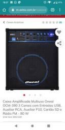 Caixa acústica Oneal OCM 390. 80w RMS