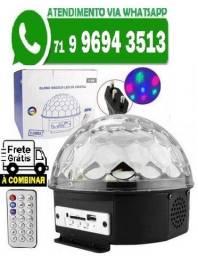 Bola Maluca Led Rgb Holográfico 18w Dmx 8ch Ball Light (Novo)