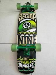 Skate Long SECTOR 9 - shape 100% em bamboo - ORIGINAL