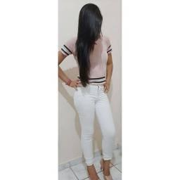 Calça branca jeens