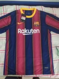 Nova Camisa Barcelona 20/2021 Top de Linha